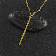 Fashion Tassels Necklace Simple Metal Long Necklace Alloy Y Shape Women Necklaces