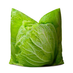 Creative 3D Cabbage Vegetables Printed Linen Cushion Cover Home Sofa Taste Funny Throw Pillow Cover