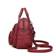 Women PU Soft Multi-function Bags Leisure Handbags Large Capacity Backpack
