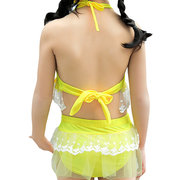 Lace Patch Ruffles Baby Girls Bikini Set For Swimming Bathing Water Party Swimsuit 1-13 Years