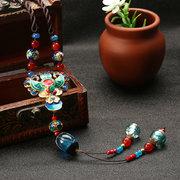 Ethnic Retro Necklace Vintage Jade Beads Necklace