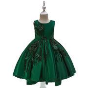 Girls Princess Dress Kids Sequin Patch Fancy Formal Dress For 4Y-13Y