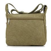 Men Canvas Leisure Outdoor Sports Hiking Travel Casual Crossbody Bag Shoulder Bag