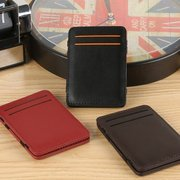 Male And Female Leather Multi-slots Short Wallet Card Holder Purse