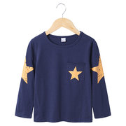Топы с длинным рукавом и принтом в виде звезд Рубашка For 2Y-9Y