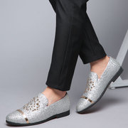Men Rivet Decoration Stylish Slip On Wedding Dress Casual Loafers