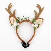 Deer Horn Pet Dog Cat Head Band for Christmas Accessories