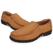 Scarpe uomo di grandi dimensioni Vera Pelle Slip On Casuale Shoes