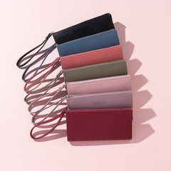 Mulheres Faux Leather Solid Multi-função Long Wallet Multi-color Phone Clutch Bags