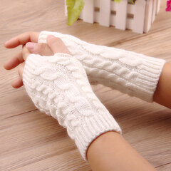 Women Stylish Hand Warmer Winter Gloves Arm Crochet Knitting Warm Fingerless Gloves