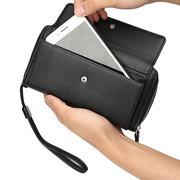 Sacchetto del telefono del raccoglitore di affari della borsa del cuoio solido dell'unità di elaborazione degli uomini