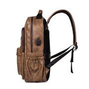 Faux Leather Laptop Bag Backpack Shoulder Bag For Men