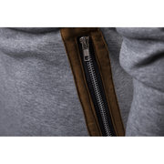 Mens Casual Comfy Stitching Zipper Breathable Slim Warm Hoodies