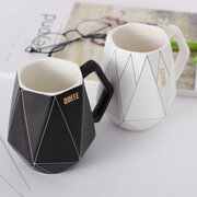 Modern Simple Creative Polygon Ceramic Coffee Mug