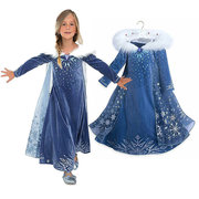 Girls Princess Cosplay Costume Dresses Kids Party Dress For 4-13 Years