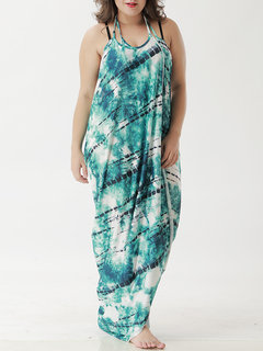 Printed Backless Multi-way Wear Beach Dress Cover-Ups