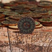 Цветочные деревянные швейные кнопки ручной работы