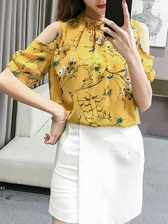 Цветочные отпечатанные офсетные штаны