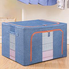88L Большая емкость со стальной рамой Органайзер Складная Водонепроницаемы 600D Oxford Storage Fabric Коробка