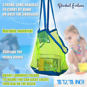 Mesh Bags for the Beach Kids Toys Towels Summer Pool Bag