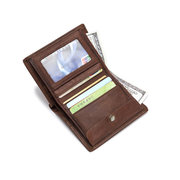 Genuine Leather Retro Multifunction Wallet Casual Coin Bags For Men