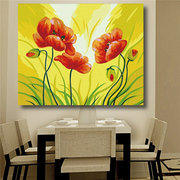 DIY Acrylic Paint By Number kit Painting On Canvas Flowers Scenery Wall Art Home Decor
