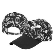 Men Women Cotton Chef Works Activities Knives&Forks Pattern Baseball Caps Casual Sun hat