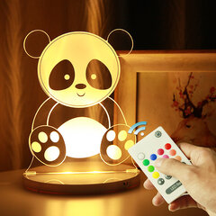 3D LED Night Light USB Powered Re,ote Control Christmas Gift Bedroom Home Decor