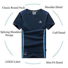 Mens-Sommer-Normallack-Oansatz Kurzschluss-Hülsen-beiläufige Baumwollt-shirts