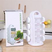 Tarros de condimento que ahorran espacio Estante para almacenamiento de especias de la cocina en forma de estante para 8 botellas de condimento