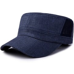 Men Vogue Cotton Solid Color Flat Cap Sunshade Casual Outdoors Simple Adjustable Hat