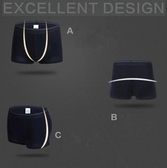Men's Cotton Soft Breathable Briefs U Convex Underwear Solid Boxers Shorts