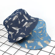 Women Vintage Vogue Printing Double-sided Cotton Fisherman's Hat Outdoor Travel Sun Cap