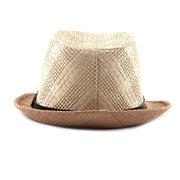 Men Straw Breathable Flexible Dignity Fashion Jazz Cap Outdoor Travel Sunshade Straw Cap