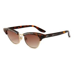Womens PC UV400 Cat Sunglasses Exquisite Vogue Wild Modified Face Sunglasses