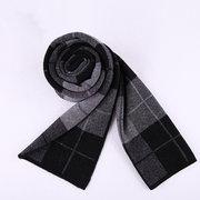 Мужчины Бизнес Чистая шерсть Толстый теплый шарф Повседневная высокого качества плед Шарфы