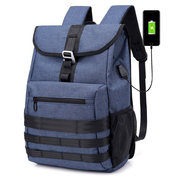 Oxford Large Capacity Backpack USB Multi-function Computer Backpack Outdoor Travel Bag