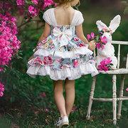 Flower Girls Dresses Lace Cake Tutu Dress For 1-7Years