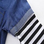 Vêtements décontractés de combinaison de culotte de denim de garçons de filles de bébé infantile pour 0-24M