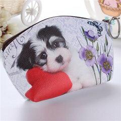 Cute 3D Dog Pattern Zipper Wallet for women
