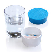 Multi-functional 2 Cell Water Cup Pill Plastic Storage Box Portable Water Bottles