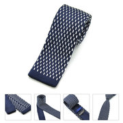 Korean Version Leisure Stripe Plaids Slim Skinny Knitting Neckties Male Narrow Ties