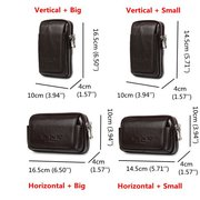 Solid Genuine Leather Waist Bag Crossbody Bag Big Capacity Phone Bag For Men
