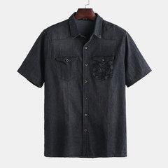 Chemise décontractée en vrac à manches courtes pour hommes