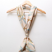 Women Printing Geometric Chiffon Double Layer Scarf Casual Lovely Long Towel