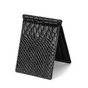 4 Card Slots PU Leather Wallet Crocodile Snake Scale Card Holder Coin Purse For Men