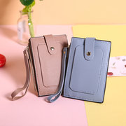 Women Solid PU Leather 7 Card Slot Wallet Casual Coin Purse