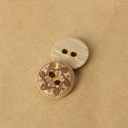 100Pcs Coconut Shell 2 Holes Buttons DIY Crafting Sewing Buckles Supplies