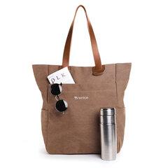 Brenice sac à dos vintage en toil sac porté main unisexe