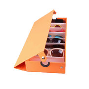8 Slot  Eyeglass Sunglasses Glasses Storage Box Display Grid Stand Case Box Holder